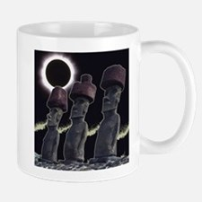 Easter Island Eclipse-Moai Small Small Mug