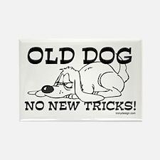 Old Dog No New Tricks Rectangle Magnet