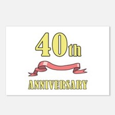 40th Wedding Anniversary Postcards (Package of 8)