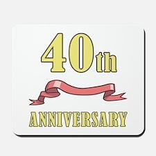 40th Wedding Anniversary Mousepad