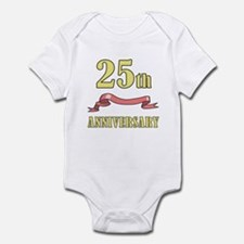 25th Wedding Anniversary Infant Bodysuit