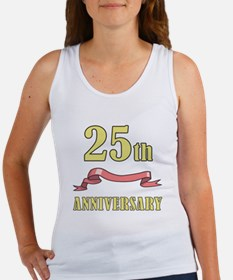 25th Wedding Anniversary Women's Tank Top