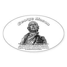 George Mason 01 Oval Decal