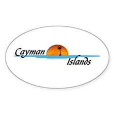 Cayman Islands Sunset Oval Decal