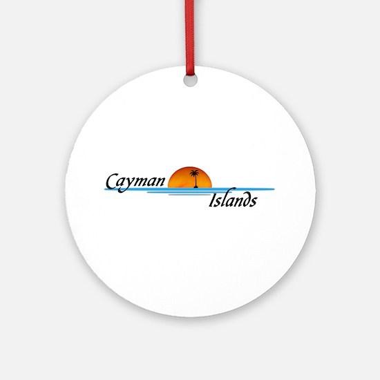 Cayman Islands Sunset Ornament (Round)