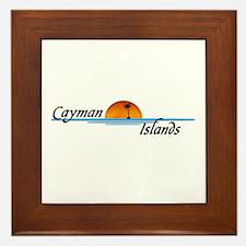 Cayman Islands Sunset Framed Tile