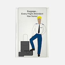 Baggage Men Rectangle Magnet