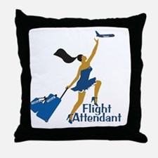 AA Catching Her Flight FA Throw Pillow