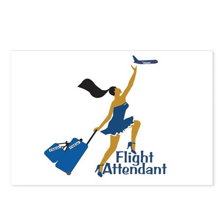 AA Catching Her Flight FA Postcards (Package of 8)