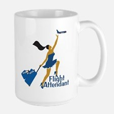 AA Catching Her Flight FA Large Mug