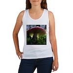 Red Mushroom in Forest Women's Tank Top