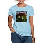 Red Mushroom in Forest Women's Light T-Shirt