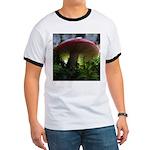 Red Mushroom in Forest Ringer T