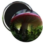 Red Mushroom in Forest Magnet