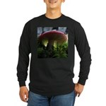 Red Mushroom in Forest Long Sleeve Dark T-Shirt