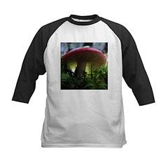 Red Mushroom in Forest Kids Baseball Jersey