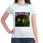 Red Mushroom in Forest Jr. Ringer T-Shirt