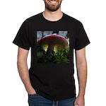 Red Mushroom in Forest Dark T-Shirt