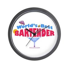 World's Best Bartender Wall Clock