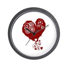 Crazy Red Heart Wall Clock