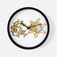 Sun Moon Sparkle Wall Clock