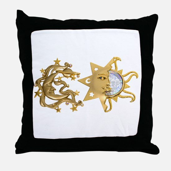 Sun Moon Sparkle Throw Pillow