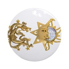 Sun Moon Sparkle Ornament (Round)