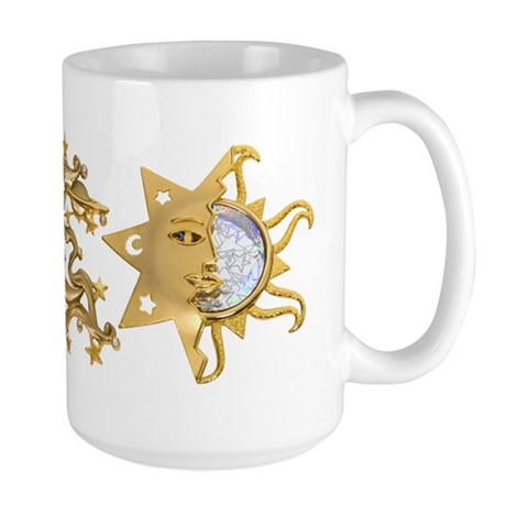 Sun Moon Sparkle Large Mug