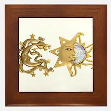 Sun Moon Sparkle Framed Tile