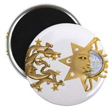 "Sun Moon Sparkle 2.25"" Magnet (10 pack)"