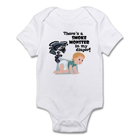 Smoky Monster in my Diaper! Infant Bodysuit