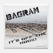 Bagram is Off the Hook Tile Coaster