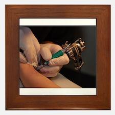Tattoo Needle Framed Tile