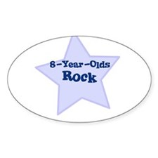 8-Year-Olds Rock Oval Decal