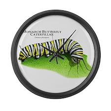 Monarch Butterfly Caterpillar Large Wall Clock
