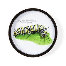 Monarch Butterfly Caterpillar Wall Clock