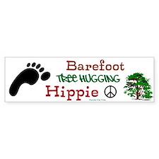 Barefoot Tree-Hugging Hippie Bumper Bumper Sticker