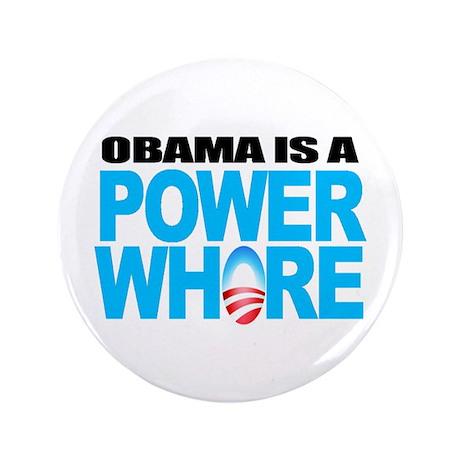 """Extreme Anti Obama Button 3.5"""" (single)"""