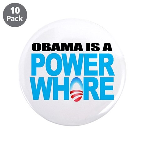 """Extreme Anti Obama Button 3.5"""" (10 pack)"""