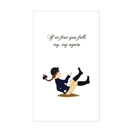 If at First You Fall Girl Rectangle Sticker