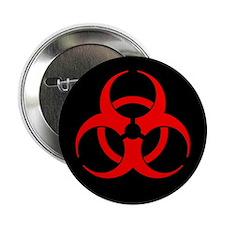 """Red Biohazard Symbol 2.25"""" Button (10 pack)"""
