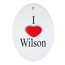 Wilson Oval Ornament