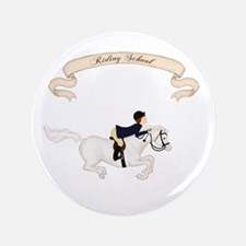 "Riding School Boy 3.5"" Button"