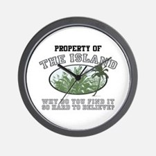 Property of the Island Wall Clock