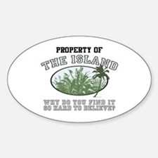 Property of the Island Oval Decal