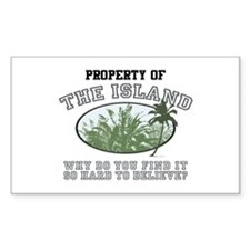 Property of the Island Rectangle Decal