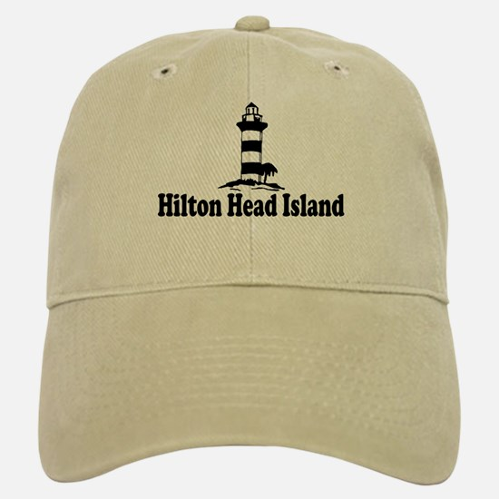Hilton Head Island SC - Lighthouse Design Baseball Baseball Cap