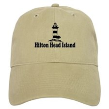 Hilton Head Island SC - Lighthouse Design Baseball Cap