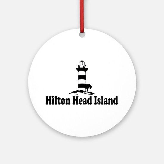 Hilton Head Island SC - Lighthouse Design Ornament
