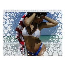4th of July Bikini Girl Wall Calendar